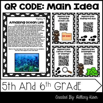 Main Idea Mysteries (QR Code Activity: 5th and 6th Grade)