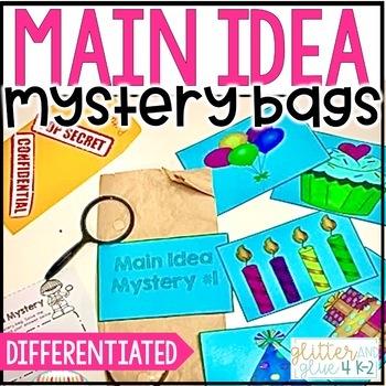 Main Idea Mystery Bags {Includes 10 Main Idea Mysteries!}