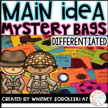 Main Idea Mystery Bags {Includes 10 Main Idea Mysteries!}