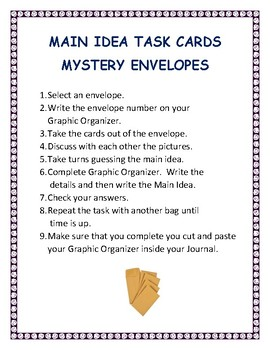 Main Idea - Mystery Envelopes