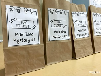 Main Idea Mystery Smart Activity