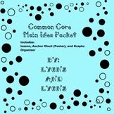 Main Idea Nonfiction Lesson &Poster/Anchor Chart &Organizer