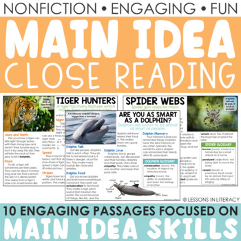 Main Idea Nonfiction Passages {Volume 1}