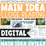 Main Idea Nonfiction Passages for Google Classroom (Volume 1)