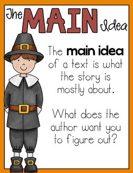Main Idea and Supporting Details Passages November