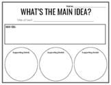 Main Idea Organizer