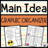 Main Idea Organizer - Ice Cream
