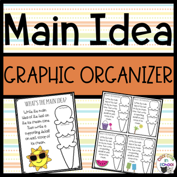 Main Idea Organizer - Ice Cream
