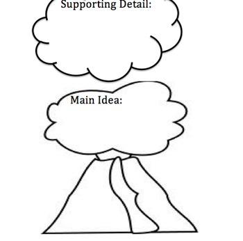 Main Idea Organizer- Volcano Theme