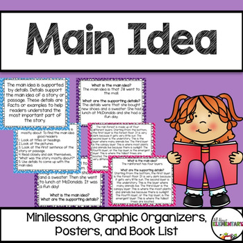 Main Idea Pack {Minilessons and Graphic Organizers}