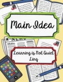 Main Idea Package (Game, Notebook, Practice, Graphic Organizer)