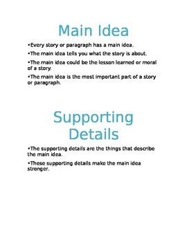 Main Idea Packet