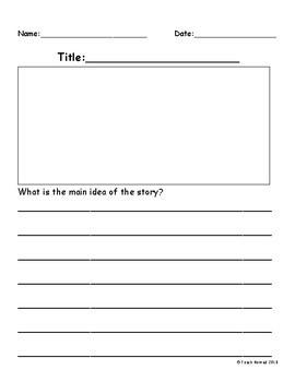 Main Idea Paper Template