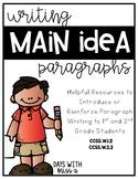 Main Idea Paragraph Writing - Grades 1 & 2