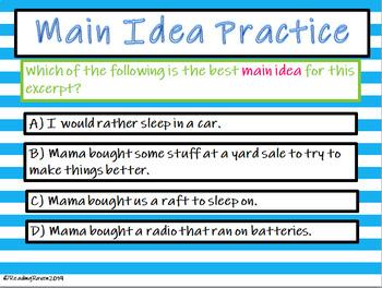 Main Idea Part 1 Interactive Presentation