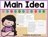 Main Idea Passages 1st and 2nd Grade