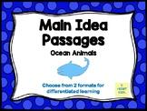 Main Idea Passages (Ocean Animals)