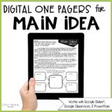 Main Idea Passages (Print & Digital)