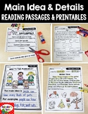 Main Idea Reading Passages & Printables