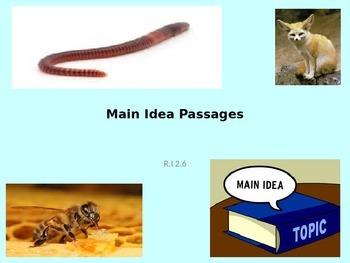Main Idea Passages R.I 2.6