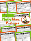 Main Idea Passages RL2.1 RI2.1 | Text Evidence | Reading Comprehension