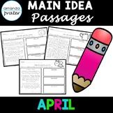 Main Idea Passages for April