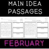 Main Idea Passages for February