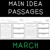 Main Idea Passages for March