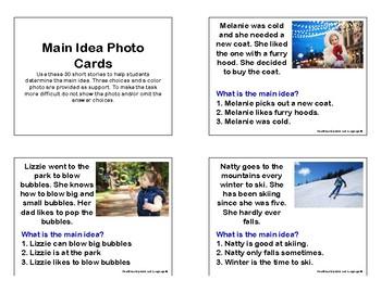 Main Idea Photo Cards