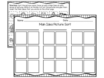 Main Idea Picture Sort and Cut and Sort 2