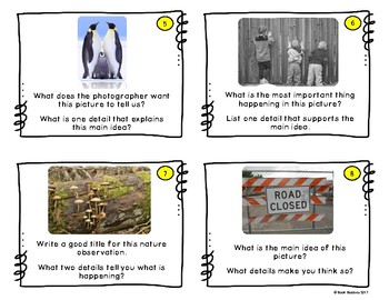 Main Idea Picture Task Cards