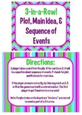 Main Idea, Plot, and Sequence of Events Review Game-PDF an