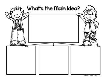 Main Idea Post-It Note Graphic Organizer
