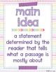 Main Idea Poster Set