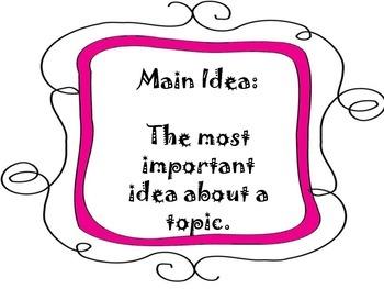 Main Idea Posters Set 2
