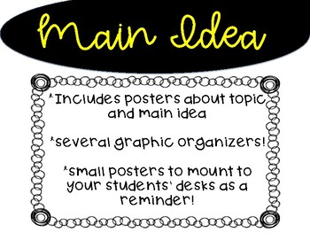 Main Idea: Posters and Four Graphic Organizers