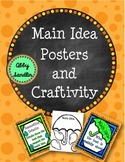 Main Idea Posters and Umbrella Craftivity RI.2.2, RI.3.2, RI.4.2
