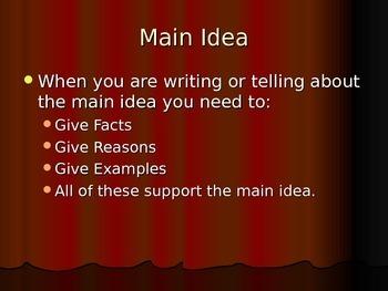 Main Idea Power Point