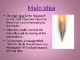 Main Idea & Details 45-Slide PowerPoint Reading ELA Common