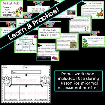 Main Idea: PowerPoint Lesson & Practice