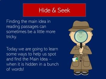 Main Idea Power Point | Main Idea PowerPoint | Main Idea Grade 1 2 3