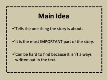 Main Idea PowerPoint Presentation {Non-Fiction Text}