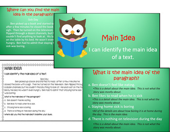 Main Idea Powerpoint and Worksheet