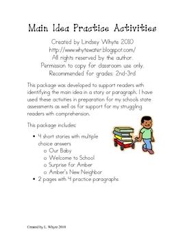Main Idea Practice Activities