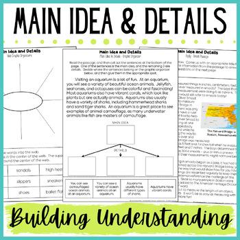 Main Idea and Details Practice - Scaffolded Activities to Build Understanding