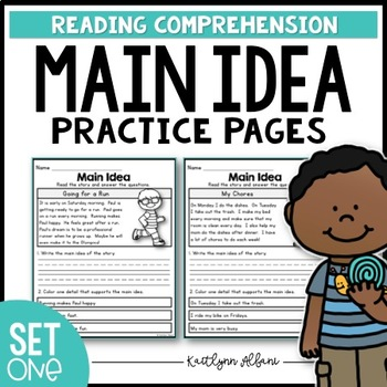 Main Idea Practice Pages for Beginners