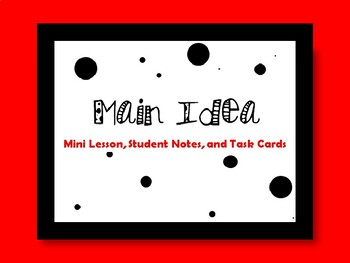 Main Idea! Practice Using Poetry.