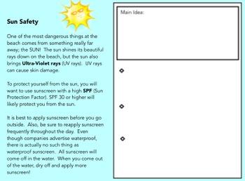 Main Idea Practice for the Smartboard
