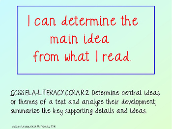 Main Idea Passages   *Primary Lesson in Power Point