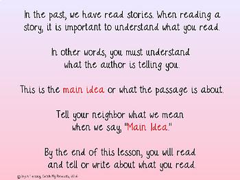 Main Idea Passages